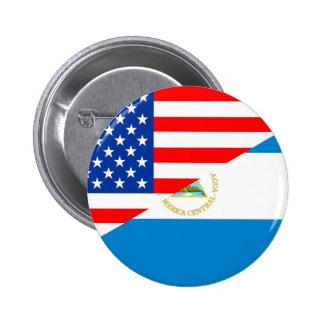 united states america nicaragua half flag usa pinback button