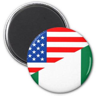 united states america nigeria half flag usa countr magnet