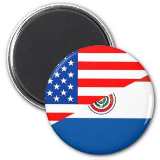 united states america paraguay half flag usa magnet