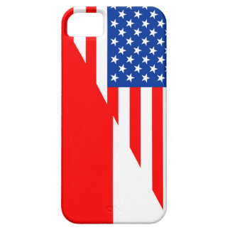 united states america poland half flag usa country iPhone SE/5/5s case