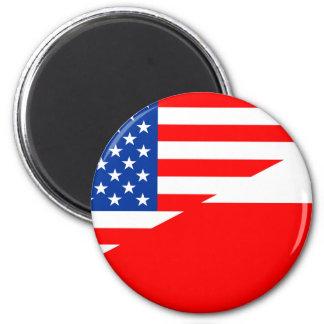 united states america poland half flag usa country magnet