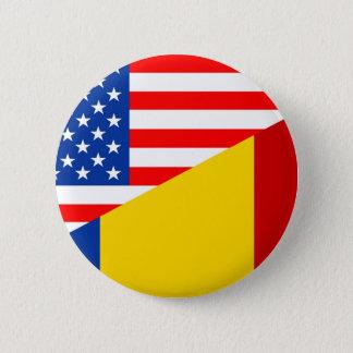 united states america romania half flag usa countr button
