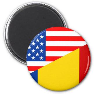 united states america romania half flag usa countr magnet
