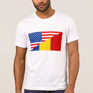 united states america romania half flag usa T-Shirt