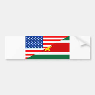 united states america suriname half flag usa count bumper sticker