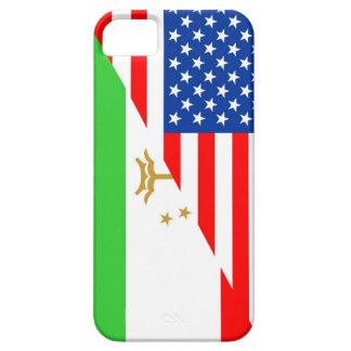 united states america tajikistan half flag usa cou iPhone SE/5/5s case