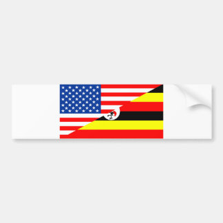 united states america uganda half flag usa country bumper sticker