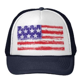 united states,american flag mesh hat