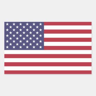 United States/American Flag, USA/US Rectangular Sticker