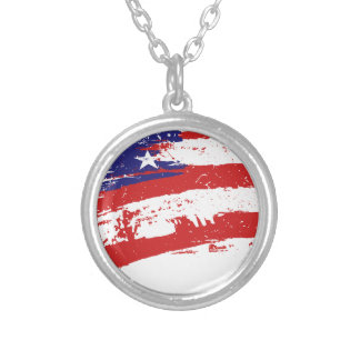 United States/American Star Flag, USA/US Necklace