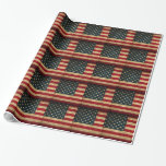 united-states-american-usa-flag-vintage-distressed wrapping paper