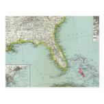United States and Bahamas Postcard