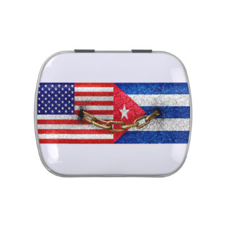 United States and Cuba Flags United Jelly Belly Tins