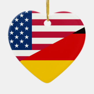 United States And Germany, hybrids flag Ornament