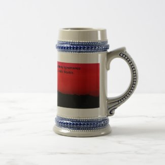 United States and Ignorance 18 Oz Beer Stein
