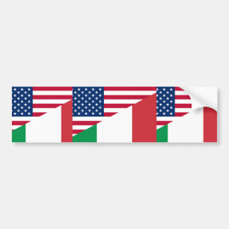 United States And Italy, hybrids Bumper Sticker