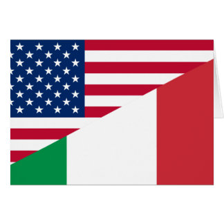 United States And Italy, hybrids Greeting Card