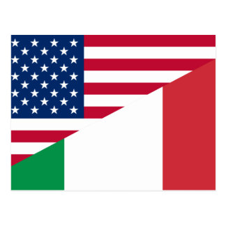 United States And Italy, hybrids Postcard