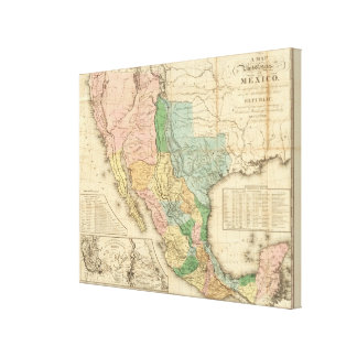 United States and Mexico Canvas Print