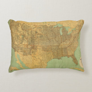 United States and Territories Accent Pillow