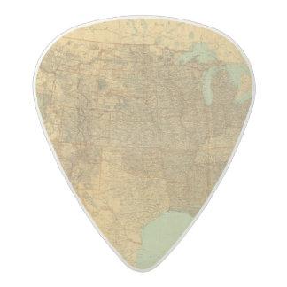 United States and Territories Acetal Guitar Pick