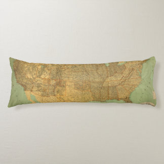 United States and Territories Body Pillow