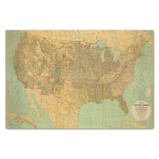 """United States and Territories 10"""" X 15"""" Tissue Paper"""