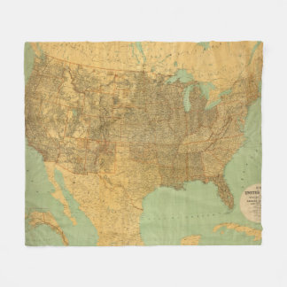 United States and Territories Fleece Blanket