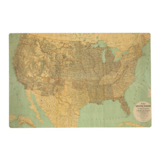 United States and Territories Laminated Placemat
