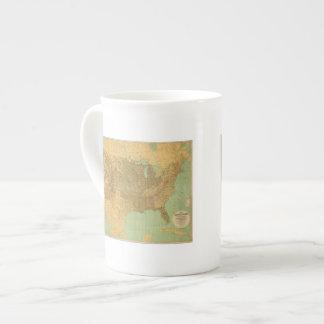United States and Territories Porcelain Mug