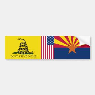 United States Arizona Gadsden flag Bumper Sticker