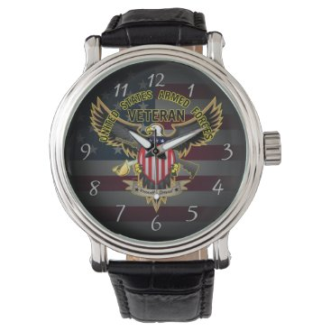 United States Armed Forces Veteran, Proudly Served Watch