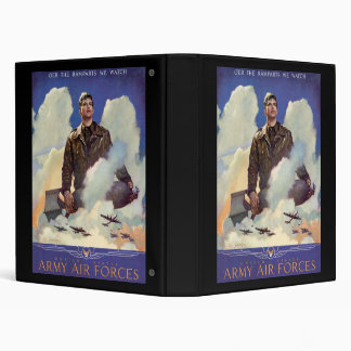 United States Army Air Forces 3 Ring Binder