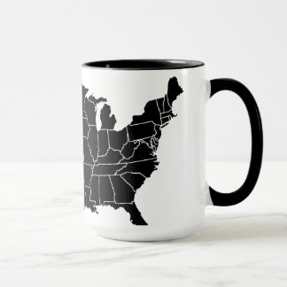 United States B&W Map Coffee Cup