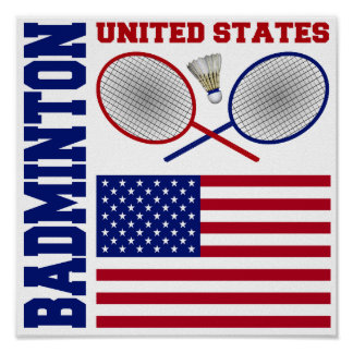 United States Badminton Poster