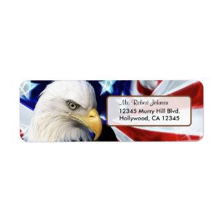 United States Bald Eagle Return Address Label