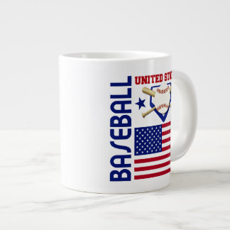 United States Baseball Jumbo Mugs