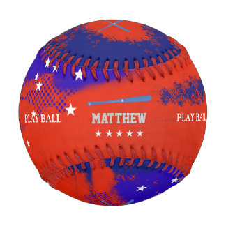 United States bat and play ball personalized Baseball