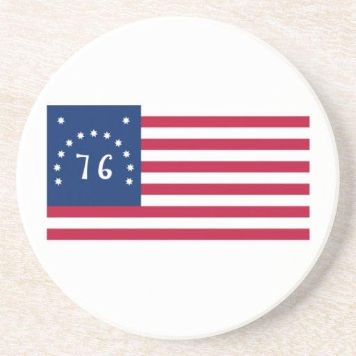 United States Bennington Flag Spirit of 76 Drink Coaster