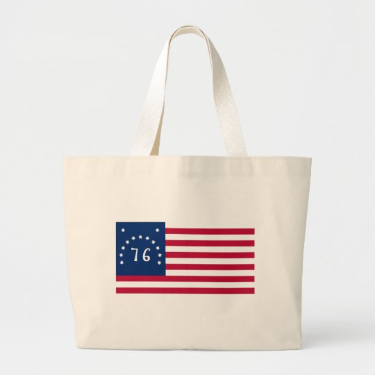 United States Bennington Flag Spirit of 76 Large Tote Bag