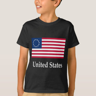 United States (Betsy Ross) Flag And Name T-Shirt