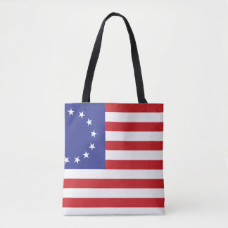 United States Betsy Ross Flag Tote Bag