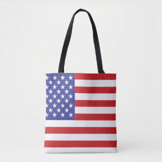 United States & Betsy Ross Flags - Front & Back Tote Bag