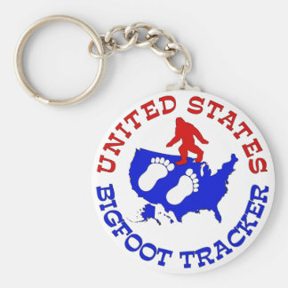 United States Bigfoot Tracker Keychain