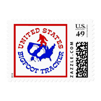 United States Bigfoot Tracker Postage Stamps