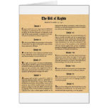 United States Bill of Rights Greeting Card