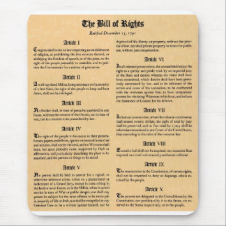 United States Bill of Rights Mouse Pad