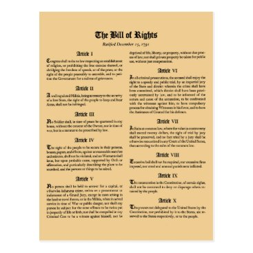 wesleyowns United States Bill of Rights Postcard