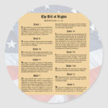 United States Bill of Rights Stickers