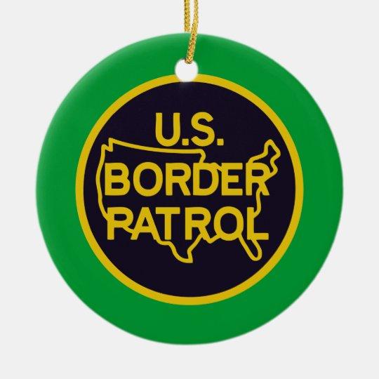 United States Border Patrol Ceramic Ornament